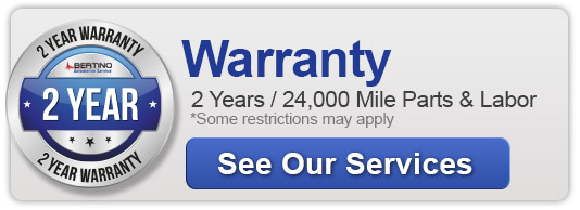 vehicle warranty 2 Years / 24,000 Mile Parts & Labor